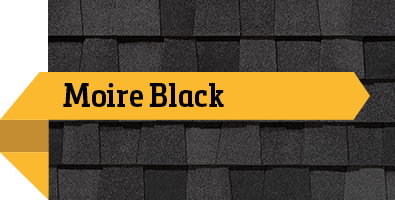 CertainTeed Moire Black SBS Shingle