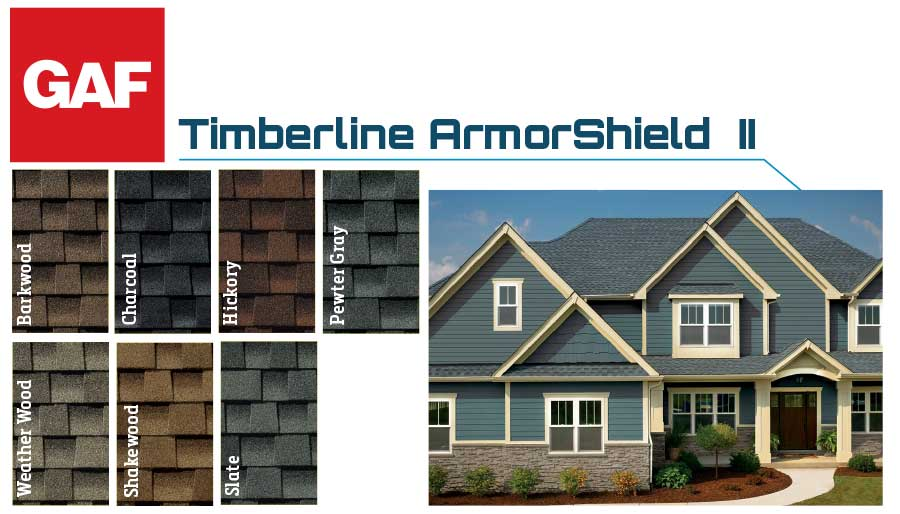 GAF Timberline Swatches